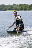 Knee Boarding royalty free stock photography