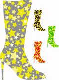 Knee boots with stars Stock Photos