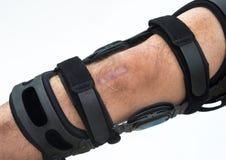 Knee Brace. Knee brace for ACL football knee injury stock photo