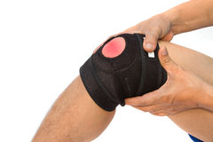 Knee brace for ACL  knee injury. Sport injury Royalty Free Stock Photography