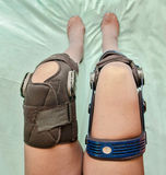 Knee braces Royalty Free Stock Image