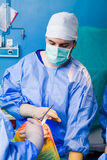 Knee imolant Stock Image