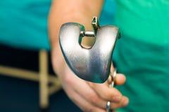 Knee implant for arthroplasty Stock Photo