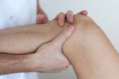 Knee injure Royalty Free Stock Images