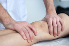 Knee injure Royalty Free Stock Photography