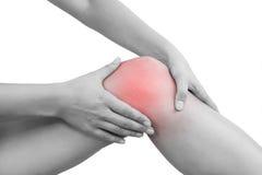 Knee injury Royalty Free Stock Images