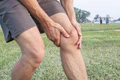 Knee injury Royalty Free Stock Photo