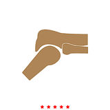 Knee joint it is icon . stock illustration
