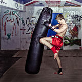 Knee kick Royalty Free Stock Image