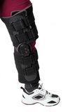 Knee in knee brace Royalty Free Stock Photography