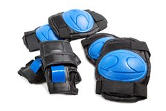 Knee pads and elbow pads isolated stock images