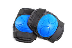 Knee pads and elbow pads isolated stock photography