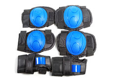 Knee pads and elbow pads isolated Stock Image