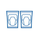 Knee Pads Icon Royalty Free Stock Photo