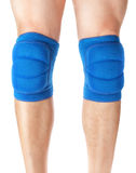 Knee pads to protect the games on male legs. Royalty Free Stock Image