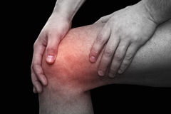 Knee pain Stock Photos