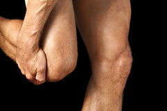 Knee pain Stock Photography