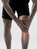 Knee pain Stock Photo