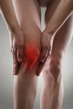 Knee pain Stock Image