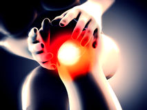 Knee pain Royalty Free Stock Image