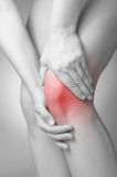 Knee pain Royalty Free Stock Photos