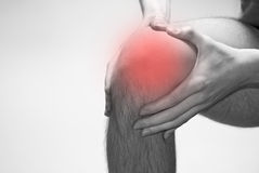 Knee problems Royalty Free Stock Photo