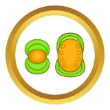 Knee protector and elbow pad vector icon Royalty Free Stock Photo