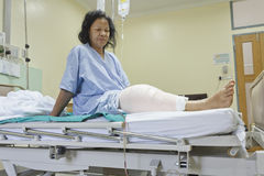 Knee replacement incision Stock Images