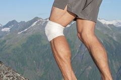 Knee sport support Stock Images