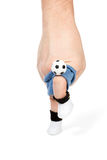 Knee strike on the ball Royalty Free Stock Image
