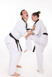 Knee strike in close fight Stock Photography
