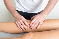 Knee treatment Stock Photography