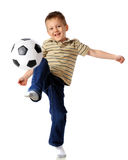 Kneeing the Ball Royalty Free Stock Photography