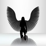 Kneeling angel Royalty Free Stock Photography