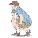 Kneeling Man. An image of a kneeling man Stock Image
