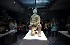 Kneeling Shoot Terracotta Warrior Stock Image