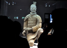 Kneeling Shoot Terracotta Warrior Royalty Free Stock Photography
