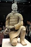 Kneeling Shoot Terracotta Warrior Royalty Free Stock Photo