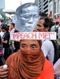 Kneget och korruption protesterar i Manila, Filippinerna arkivbild