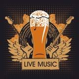 Kneipe mit Live-Musik lizenzfreie abbildung