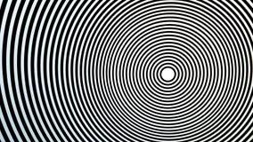 Knepig optisk lek som verkar flytta sig Cirklar på cirklar, mitt, mål av något eller bullseye arkivfoto