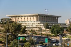 Knesset i Jerusalem Arkivfoto