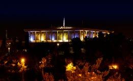 Knesset (il Parlamento di Israele) alla notte Fotografia Stock