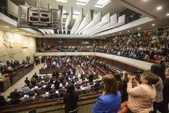 Knesset israelí del parlamento Jerusalén, Israel Foto de archivo libre de regalías