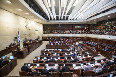 Knesset israelita do parlamento Jerusalem, Israel Imagem de Stock Royalty Free