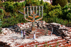 Knesset Menorah, Jerusalem Stock Images