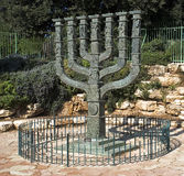 The Knesset's Menorah Stock Photography