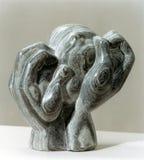 Knetende Hände durch Shimon Drory Stockbild
