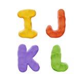 Knetmasse Clay Alphabet Lizenzfreies Stockfoto
