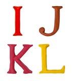 Knetmassebuchstaben. Stockfotografie